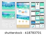 website template  one page... | Shutterstock .eps vector #618783701