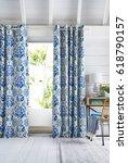 interior design with a window....   Shutterstock . vector #618790157