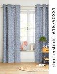 interior design with a window.... | Shutterstock . vector #618790331