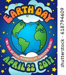 earth day poster  card or... | Shutterstock .eps vector #618794609