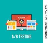 flat design concept of ab... | Shutterstock .eps vector #618797591