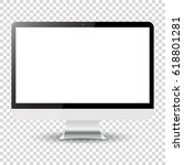 computer monitor isolated on... | Shutterstock . vector #618801281