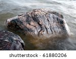 Water wears away the stone - stock photo
