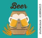 beer glass and barrel design | Shutterstock .eps vector #618806015