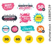 sale shopping banners. special... | Shutterstock .eps vector #618809159