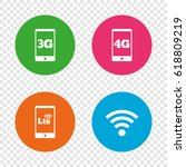 mobile telecommunications icons.... | Shutterstock .eps vector #618809219