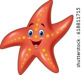 cartoon happy starfish | Shutterstock .eps vector #618811715