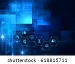 fintech icon  on abstract... | Shutterstock . vector #618815711