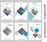 vector brochure cover templates ... | Shutterstock .eps vector #618825449