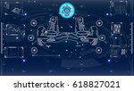 futuristic user interface for... | Shutterstock .eps vector #618827021