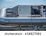 gray air handling unit for the... | Shutterstock . vector #618827081