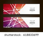 colorful mosaic banner. info... | Shutterstock .eps vector #618833699