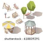 set of isometric vector outdoor ... | Shutterstock .eps vector #618839291