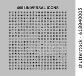 400 universal icons | Shutterstock .eps vector #618840005