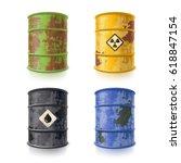 Old Rusty Metal Barrels For...