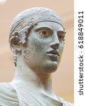 charioteer  bronze greek statue ... | Shutterstock . vector #618849011