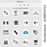 server vector icons for user... | Shutterstock .eps vector #618851411