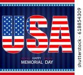 happy memorial day background... | Shutterstock .eps vector #618854309