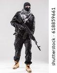 terrorism concept  terrorist...   Shutterstock . vector #618859661