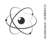 model of atom. atom icon.... | Shutterstock .eps vector #618860111