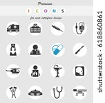 medical vector icons for user... | Shutterstock .eps vector #618860861
