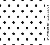 abstract polka dot pattern with ...   Shutterstock . vector #618862775
