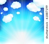 beautiful  blue sky with clouds ... | Shutterstock . vector #61887199