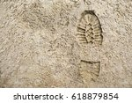 Imprint Of The Shoe On Sand...
