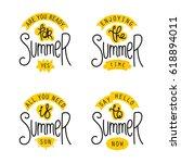 summer labels and design... | Shutterstock .eps vector #618894011