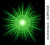 Green Bursting Star Isolated In ...