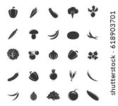 set of gray vegetables isolated ... | Shutterstock .eps vector #618903701
