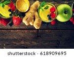 tasty beautiful ingredients... | Shutterstock . vector #618909695