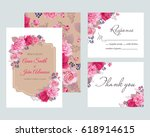 wedding floral template...   Shutterstock .eps vector #618914615