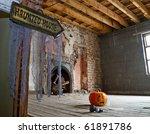 Haunted halloween house - stock photo