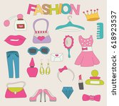 fashion elements elements... | Shutterstock .eps vector #618923537