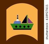 flat vector icon design... | Shutterstock .eps vector #618927611