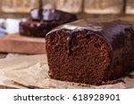 homemade chocolate cake on... | Shutterstock . vector #618928901
