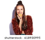 beautiful caucasian smiling...   Shutterstock . vector #618930995