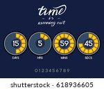 countdown timer for the website.... | Shutterstock .eps vector #618936605