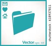 folder icon in trendy flat...