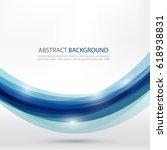 blue wavy lines. blue waves... | Shutterstock .eps vector #618938831