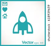 rocket icon | Shutterstock .eps vector #618939659