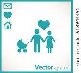 flat icon family.  | Shutterstock .eps vector #618944495