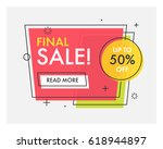 trendy flat geometric vector... | Shutterstock .eps vector #618944897