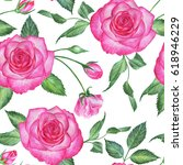 seamless floral pattern with... | Shutterstock . vector #618946229