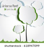 vector earth day. eco friendly... | Shutterstock .eps vector #618947099