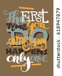 hand drawn typography... | Shutterstock .eps vector #618947879
