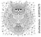 coloring book for adult and... | Shutterstock .eps vector #618953675