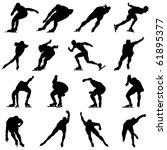 skating man silhouette set for...   Shutterstock . vector #61895377
