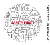safety first   equipment and... | Shutterstock .eps vector #618962357